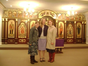 Leste, Lizzy and I at St. Josaphat's Seminary
