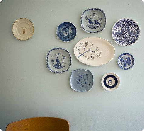 Elisabeth Dunker's kitchen wall, from Design*Sponge