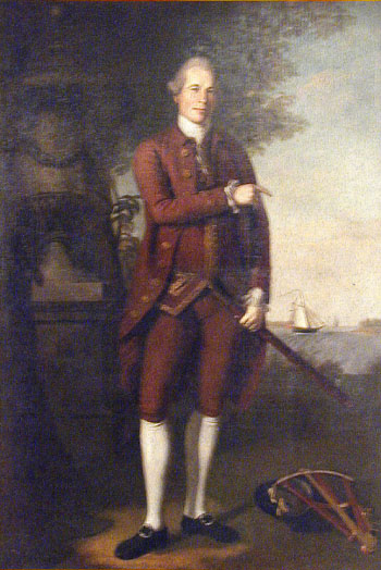 We saw this portrait of William Stone by Charles Peale in the museum